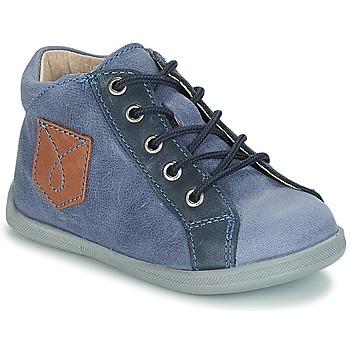 Chaussures Garçon Boots André POCHE Bleu
