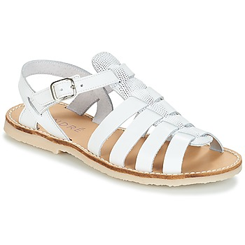 Chaussures Fille Sandales et Nu-pieds André CANDIE Blanc