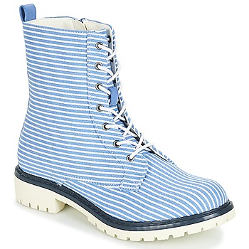 Chaussures Femme Boots André PRUNE Raye bleu