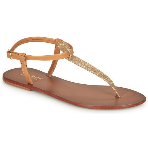 Chaussures Femme Sandales et Nu-pieds André GLITTER Camel