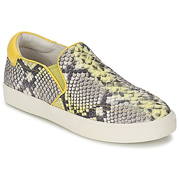 Chaussures Air max tnFemme Slips on Ash IMPULS Python / Jaune