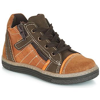 Chaussures Garçon Baskets montantes Citrouille et Compagnie HARCO Camel