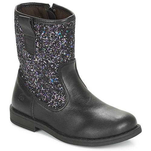 Chaussures Fille Boots Citrouille et Compagnie JUCKER Noir