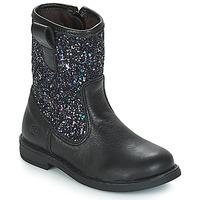 Chaussures Fille Boots Citrouille et Compagnie JUCKER Noir / Paillettes