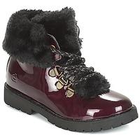 Chaussures Fille Boots Citrouille et Compagnie JUTTER Bordeau Vernis