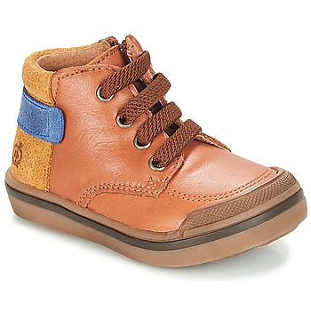 Chaussures Garçon Boots Citrouille et Compagnie JOUIZAE Camel / Jaune
