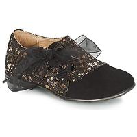 Chaussures Fille Derbies Citrouille et Compagnie JETTRA Noir / Bronze