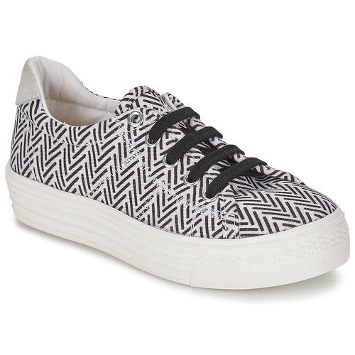 Chaussures Fille Baskets basses Shwik STEP LO CUT Noir / Blanc