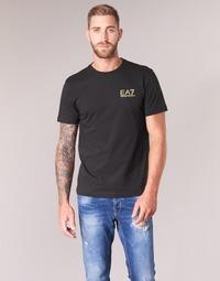 Vêtements Homme T-shirts manches courtes Emporio Armani EA7 JAZKY Noir / Doré