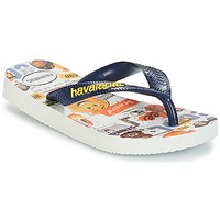 Chaussures Garçon Tongs Havaianas KIDS EMOJI MOVIE Blanc