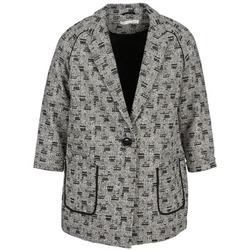 Vêtements Femme Manteaux See U Soon CARA Noir / Blanc