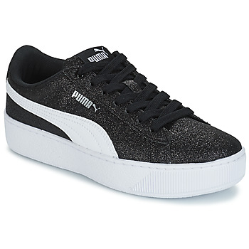 Chaussures Enfant Baskets basses Puma VIKKY PF GLIT J NOIR