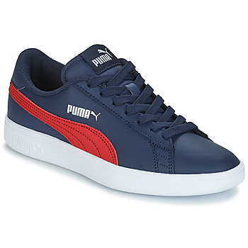 Chaussures Enfant Baskets basses Puma SMASH V2L JR182 MARINE