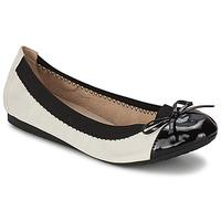 Chaussures Femme Ballerines / babies Moony Mood ELALA Blanc / Noir