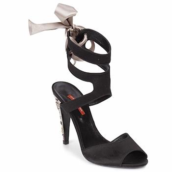Chaussures Femme Sandales et Nu-pieds Charles Jourdan MADNESS Noir / Sable