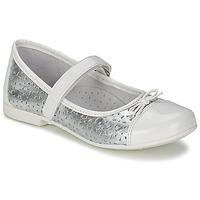 Chaussures Fille Ballerines / babies Citrouille et Compagnie JILENA Argent / Blanc