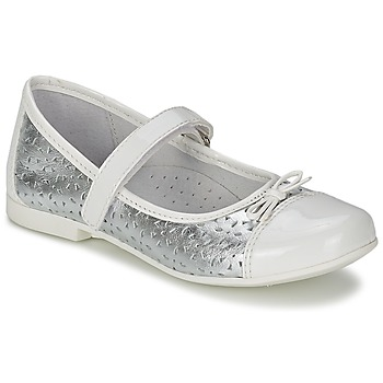 Chaussures Air max tnFille Ballerines / babies Citrouille et Compagnie JILENA Argent / Blanc