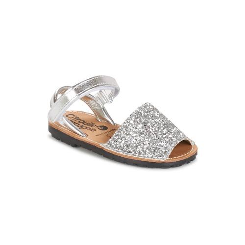 Chaussures Fille Sandales et Nu-pieds Citrouille et Compagnie SQUOUBEL Argenté