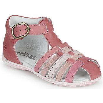 Chaussures Fille Sandales et Nu-pieds Citrouille et Compagnie RINE Rose / Multicolore