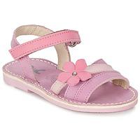 Chaussures Fille Sandales et Nu-pieds Citrouille et Compagnie VIZIEL Violet / Rose
