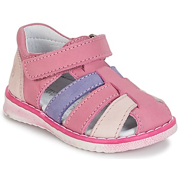 Chaussures Fille Sandales et Nu-pieds Citrouille et Compagnie CHIZETTE Lilas / Rose / Fuchsia