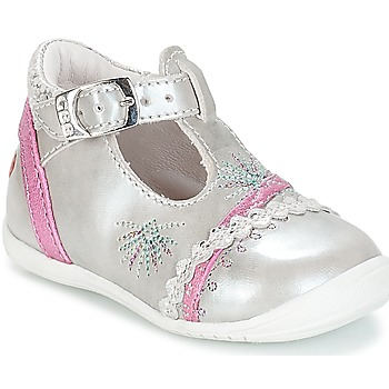 Chaussures Fille Ballerines / babies GBB MARINA VTE ARGENT-FUSHIA DPF/KEZIA
