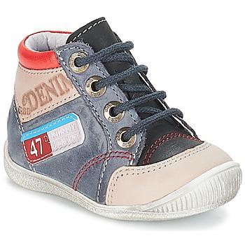 Chaussures Garçon Boots GBB PANCRACE VTE GRIS-JEANS DPF/RAIZA