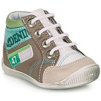 Chaussures Garçon Boots GBB PANCRACE Blanc / Vert / Taupe