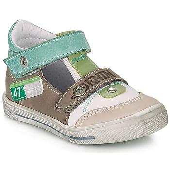 Chaussures Garçon Sandales et Nu-pieds GBB PEPINO Blanc / Vert / Taupe