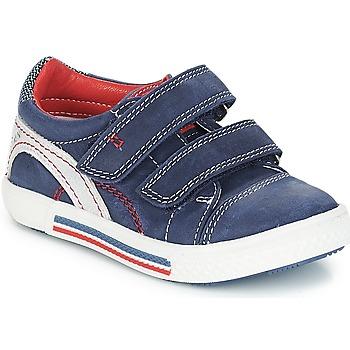 Chaussures Garçon Baskets basses Catimini PERRUCHE NUS MARINE-ROUGE DPF/STRIKE