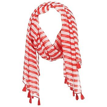 Accessoires textile Femme Echarpes / Etoles / Foulards André DOVA Blanc / rouge