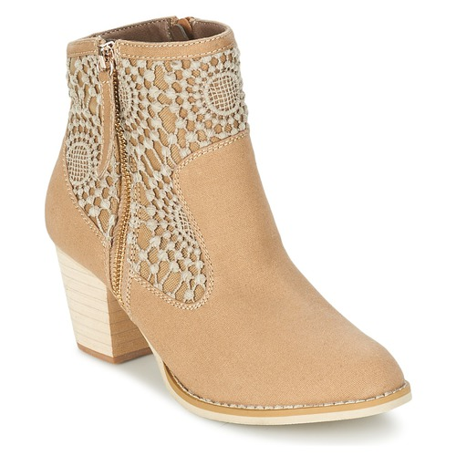 Chaussures Femme Bottines Moony Mood EROVAL Taupe