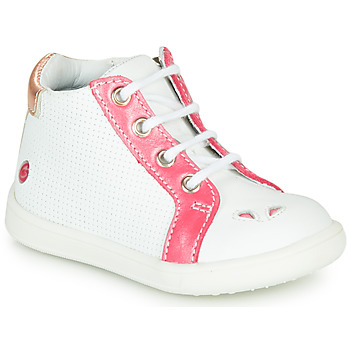 Chaussures Fille Baskets montantes GBB FAMIA VTE BLANC-CORAIL DPF/MESSI