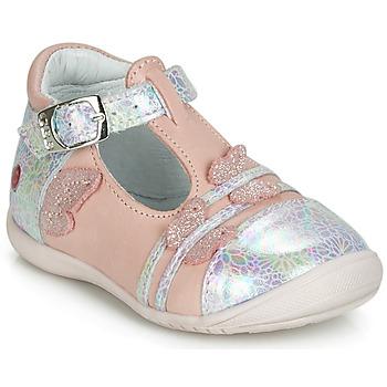 Chaussures Fille Ballerines / babies GBB MERTONE Rose / Argenté