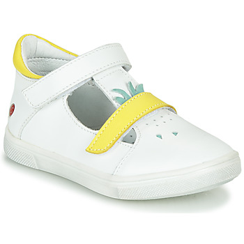 Chaussures Fille Ballerines / babies GBB ARAMA VTE BLANC-JAUNE DPF/TRILLY