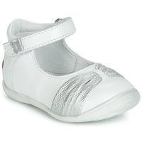 Chaussures Fille Ballerines / babies GBB MALLA Blanc / Argenté