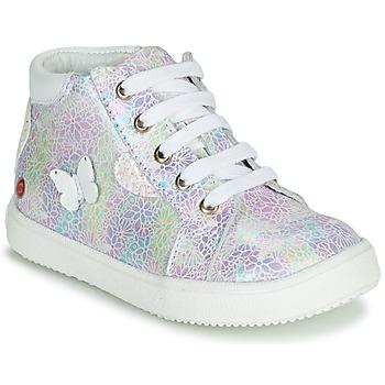 Chaussures Fille Baskets montantes GBB MEFITA Argenté / Rose