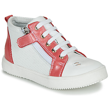 Chaussures Fille Baskets montantes GBB MIMOSA Blanc / Rose