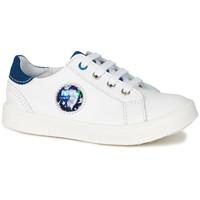 Chaussures Garçon Baskets basses GBB URSUL VTE BLANC-BLEU LED DPF/2706
