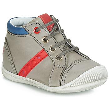 Chaussures Garçon Baskets montantes GBB TARAVI Gris / Rouge / Bleu