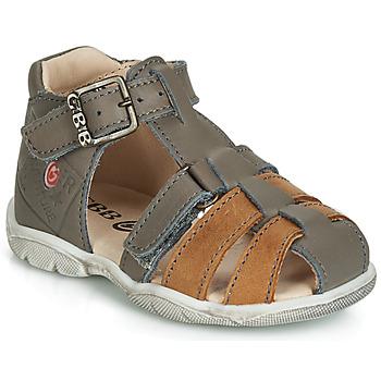 Chaussures Garçon Sandales et Nu-pieds GBB PRIGENT Moutarde / Marron