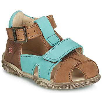 Chaussures Garçon Sandales et Nu-pieds GBB SEROLO NUB FAUVE-TURQUOISE DPF/FILOU