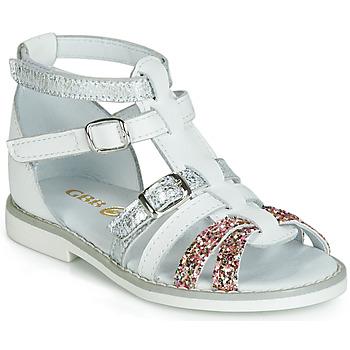 Chaussures Fille Sandales et Nu-pieds GBB MONELA Blanc