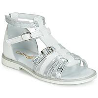 Chaussures Fille Sandales et Nu-pieds GBB MONELA Blanc / Argenté