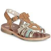 Chaussures Fille Sandales et Nu-pieds GBB FANNI Cognac / Doré