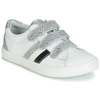 Chaussures Fille Baskets basses GBB MADO Blanc / Argenté
