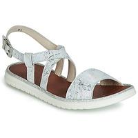 Chaussures Fille Sandales et Nu-pieds GBB ADRIANA Blanc / Argenté