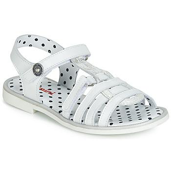 Chaussures Fille Sandales et Nu-pieds Catimini MUNDA Blanc