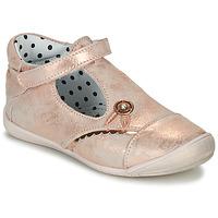 Chaussures Fille Ballerines / babies Catimini SANTA VTE ROSE OR DPF/KEZIA