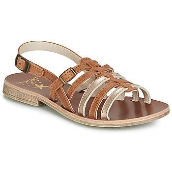 Chaussures Fille Sandales et Nu-pieds Catimini NOBO Cognac / Doré